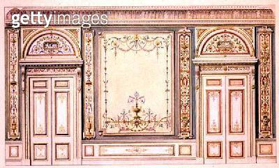 <b>Title</b> : Ornate doors and wall decoration, in the style of Robert Adam (1728-92)<br><b>Medium</b> : <br><b>Location</b> : Victoria & Albert Museum, London, UK<br> - gettyimageskorea