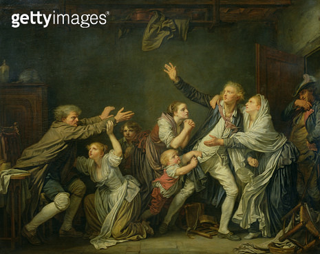 <b>Title</b> : The Father's Curse or The Ungrateful Son, 1777 (oil on canvas)<br><b>Medium</b> : oil on canvas<br><b>Location</b> : Louvre, Paris, France<br> - gettyimageskorea
