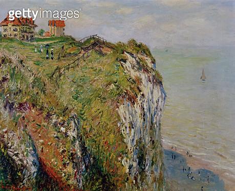 <b>Title</b> : Cliff at Dieppe, 1882 (oil on canvas)<br><b>Medium</b> : oil on canvas<br><b>Location</b> : Kunsthaus, Zurich, Switzerland<br> - gettyimageskorea