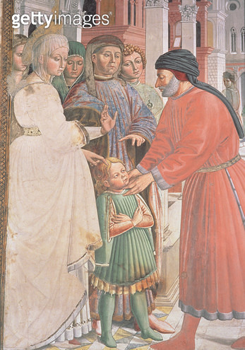 St. Augustine as a Boy/ from the Life of St. Augustine (fresco) (detail) - gettyimageskorea