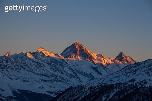 View from Thyon les Collons, Valais, Switzerland - gettyimageskorea