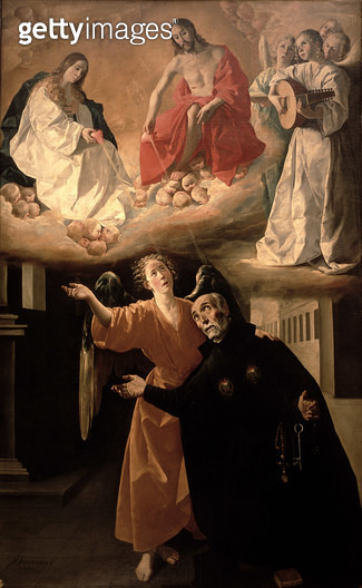 <b>Title</b> : The Vision of St. Alphonsus Rodriguez (1533-1617)<br><b>Medium</b> : <br><b>Location</b> : Real Academia de Bellas Artes de San Fernando, Madrid, Spain<br> - gettyimageskorea