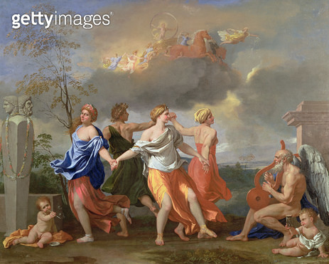 <b>Title</b> : A Dance to the Music of Time, c.1634-36 (oil on canvas)Additional InfoIl Ballo della Vita Humana;<br><b>Medium</b> : oil on canvas<br><b>Location</b> : Wallace Collection, London, UK<br> - gettyimageskorea