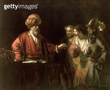 <b>Title</b> : The Centurion Cornelius (The Unmerciful Servant) c.1660 (oil on canvas)Additional Infopreviously attributed to Willem Drost;<br><b>Medium</b> : oil on canvas<br><b>Location</b> : Wallace Collection, London, UK<br> - gettyimageskorea