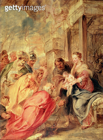 The Adoration of the Magi/ c.1633 (oil on oak panel) - gettyimageskorea
