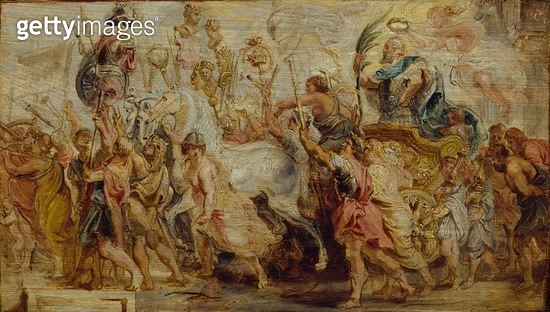 <b>Title</b> : The Triumph of Henri IV, 1628 (oil on oak panel)Additional Infoking of France and Navarre (1553-1610);<br><b>Medium</b> : oil on oak panel<br><b>Location</b> : Wallace Collection, London, UK<br> - gettyimageskorea