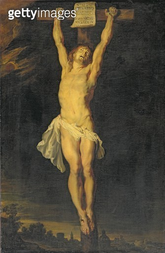 <b>Title</b> : The Crucifixion (oil on canvas)<br><b>Medium</b> : oil on canvas<br><b>Location</b> : Wallace Collection, London, UK<br> - gettyimageskorea