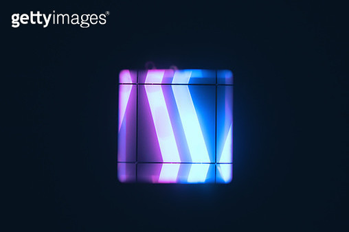 Prism and glow stick in the dark - gettyimageskorea