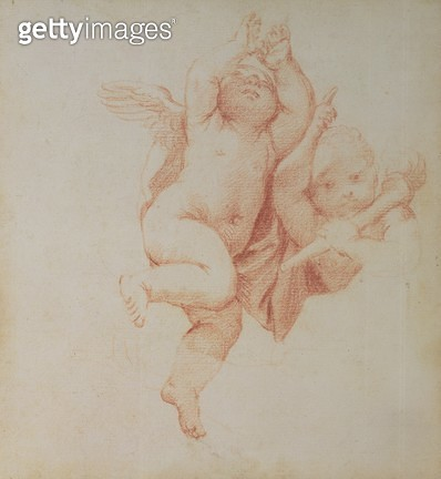 <b>Title</b> : Amorini (red chalk)<br><b>Medium</b> : <br><b>Location</b> : Wallace Collection, London, UK<br> - gettyimageskorea