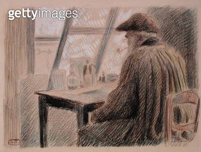 <b>Title</b> : Camille Pissarro (1831-1903) Etching (pastel on paper)<br><b>Medium</b> : pastel on paper<br><b>Location</b> : Whitworth Art Gallery, The University of Manchester, UK<br> - gettyimageskorea