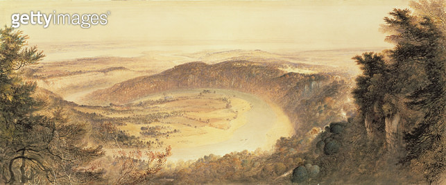 <b>Title</b> : The Wye Valley (w/c on paper)Additional Infoborder of Wales and England;<br><b>Medium</b> : watercolour on paper<br><b>Location</b> : Whitworth Art Gallery, The University of Manchester, UK<br> - gettyimageskorea