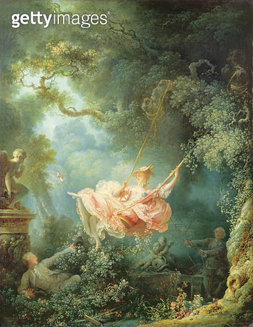 <b>Title</b> : The Swing (Les Hasards heureux de L'Escarpolette), 1767 (oil on canvas)<br><b>Medium</b> : oil on canvas<br><b>Location</b> : Wallace Collection, London, UK<br> - gettyimageskorea