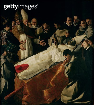 <b>Title</b> : The Exhibition of the Body of St. Bonaventure (1221-74) after 1627 (oil on canvas)<br><b>Medium</b> : oil on canvas<br><b>Location</b> : Louvre, Paris, France<br> - gettyimageskorea