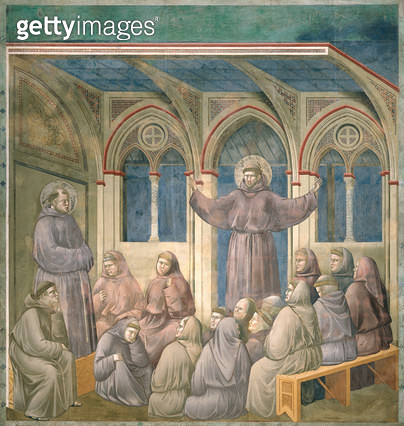 <b>Title</b> : The Apparition at the Chapter House at Arles, 1297-99 (fresco)<br><b>Medium</b> : fresco<br><b>Location</b> : San Francesco, Upper Church, Assisi, Italy<br> - gettyimageskorea