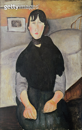 <b>Title</b> : Young Woman of the People (oil on canvas)Additional InfoGermaine Lable, daughter of the concierge of Max Jacob;<br><b>Medium</b> : <br><b>Location</b> : Los Angeles County Museum of Art, CA, USA<br> - gettyimageskorea