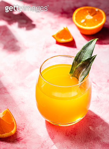 Mocktail with orange and pineapple juice - gettyimageskorea