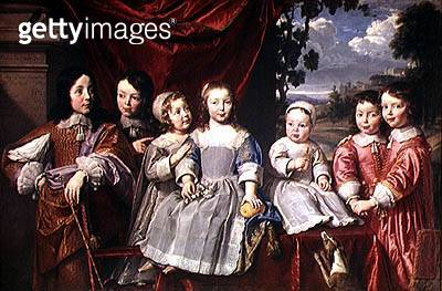 <b>Title</b> : The Habert de Montmort Children, 1649 (oil on canvas)Additional Infochildren of Henri-Louis Habert de Montmort (1600-79); patron<br><b>Medium</b> : oil on canvas<br><b>Location</b> : Musee Saint-Denis, Reims, France<br> - gettyimageskorea