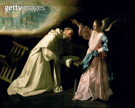 <b>Title</b> : Vision of St. Peter Nolasco, 1629 (oil on canvas)<br><b>Medium</b> : oil on canvas<br><b>Location</b> : Prado, Madrid, Spain<br> - gettyimageskorea