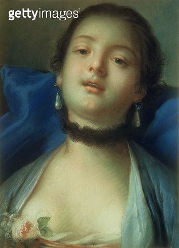 <b>Title</b> : Portrait of a Woman (oil on canvas)<br><b>Medium</b> : oil on canvas<br><b>Location</b> : Pushkin Museum, Moscow, Russia<br> - gettyimageskorea