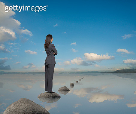 Stepping Stones To Business Success - gettyimageskorea