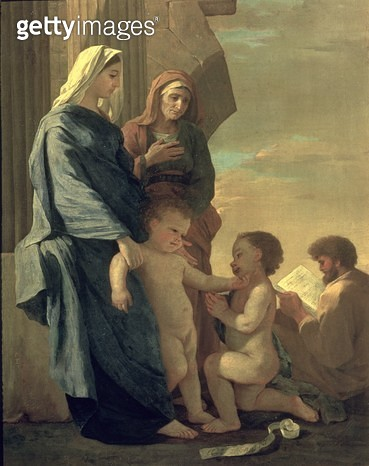 <b>Title</b> : The Holy Family (oil on canvas)<br><b>Medium</b> : oil on canvas<br><b>Location</b> : Pushkin Museum, Moscow, Russia<br> - gettyimageskorea