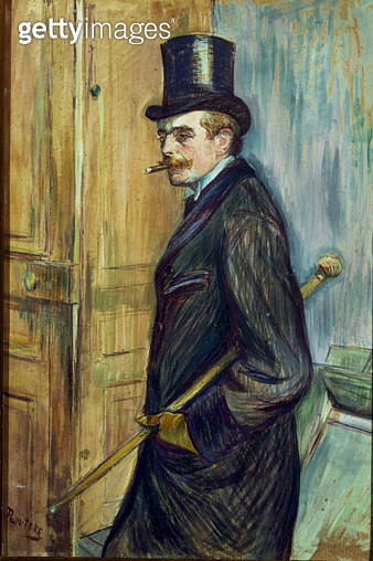 <b>Title</b> : Louis Pascal, 1891 (oil on board)<br><b>Medium</b> : oil on board<br><b>Location</b> : Musee Toulouse-Lautrec, Albi, France<br> - gettyimageskorea