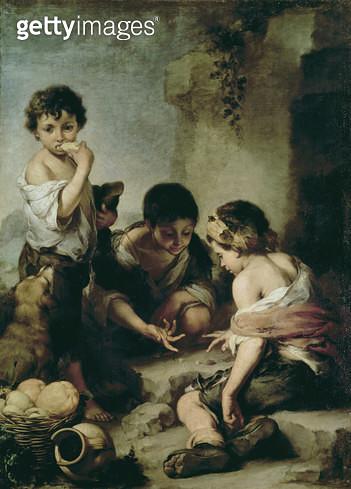 <b>Title</b> : Boys Playing Dice, c.1670-75 (oil on canvas)<br><b>Medium</b> : oil on canvas<br><b>Location</b> : Alte Pinakothek, Munich, Germany<br> - gettyimageskorea