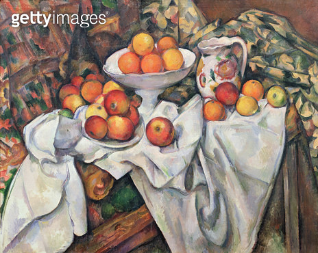 <b>Title</b> : Apples and Oranges, 1895-1900 (oil on canvas)<br><b>Medium</b> : oil on canvas<br><b>Location</b> : Musee d'Orsay, Paris, France<br> - gettyimageskorea