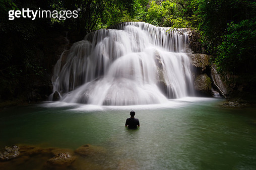 Huaymaekamin Waterfall is beautiful waterfall in Kanchanaburi , Thailand - gettyimageskorea