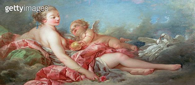 <b>Title</b> : Venus and Cupid, 1754 (oil on canvas)<br><b>Medium</b> : oil on canvas<br><b>Location</b> : Wallace Collection, London, UK<br> - gettyimageskorea