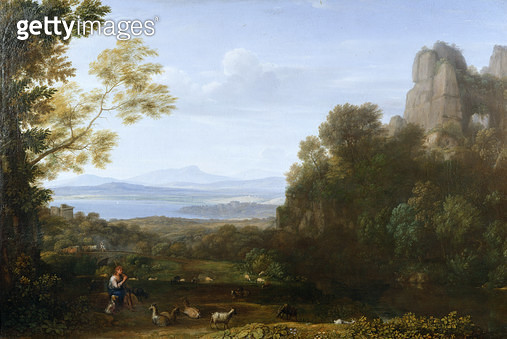 <b>Title</b> : Landscape with Apollo and Mercury, 1660 (oil on canvas)Additional InfoMercury stealing the herds of Admetus from Apollo;<br><b>Medium</b> : oil on canvas<br><b>Location</b> : Wallace Collection, London, UK<br> - gettyimageskorea