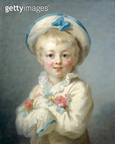 <b>Title</b> : A Boy as Pierrot, c.1780 (oil on canvas)<br><b>Medium</b> : oil on canvas<br><b>Location</b> : Wallace Collection, London, UK<br> - gettyimageskorea