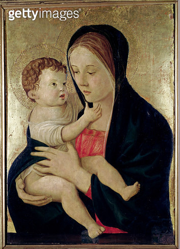 <b>Title</b> : Madonna and Child, c.1475 (tempera on panel)<br><b>Medium</b> : tempera on panel<br><b>Location</b> : Musee Fesch, Ajaccio, Corsica, France<br> - gettyimageskorea
