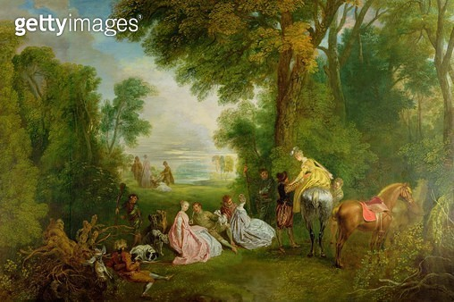 <b>Title</b> : The Halt during the Chase, c.1720 (oil on canvas)Additional InfoRendez-vous de Chasse;<br><b>Medium</b> : oil on canvas<br><b>Location</b> : Wallace Collection, London, UK<br> - gettyimageskorea