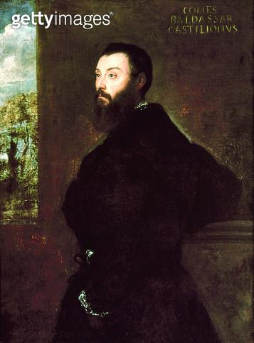 <b>Title</b> : Portrait of Baldassare Castiglione (1478-1529) 1523 (oil on panel)<br><b>Medium</b> : <br><b>Location</b> : Nationalmuseum, Stockholm, Sweden<br> - gettyimageskorea