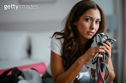 Woman preparing for workout - gettyimageskorea