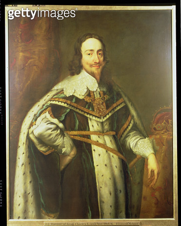 <b>Title</b> : King Charles I (1600-49) in Garter Robes (oil on canvas)<br><b>Medium</b> : oil on canvas<br><b>Location</b> : Wallace Collection, London, UK<br> - gettyimageskorea