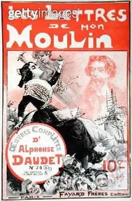 <b>Title</b> : Cover of 'Les Lettres de Mon Moulin' by Alphonse Daudet (1840-97) (litho)<br><b>Medium</b> : <br><b>Location</b> : Bibliotheque des Arts Decoratifs, Paris, France<br> - gettyimageskorea