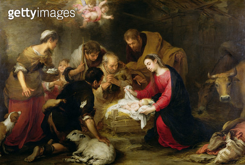 <b>Title</b> : The Adoration of the Shepherds, c.1665-70 (oil on canvas)<br><b>Medium</b> : oil on canvas<br><b>Location</b> : Wallace Collection, London, UK<br> - gettyimageskorea