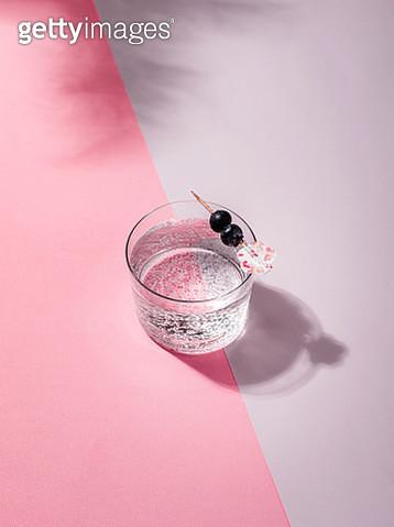 Mocktail with blueberry garnish - gettyimageskorea