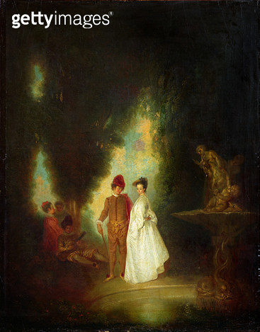 <b>Title</b> : The Fountain, 1720-99 (oil on canvas)Additional InfoLa Cascade;<br><b>Medium</b> : oil on canvas<br><b>Location</b> : Wallace Collection, London, UK<br> - gettyimageskorea