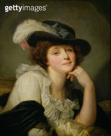 <b>Title</b> : Portrait of Sophie Arnould (1740-1802), c.1786 (oil on canvas)<br><b>Medium</b> : oil on canvas<br><b>Location</b> : Wallace Collection, London, UK<br> - gettyimageskorea