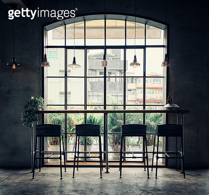 A retro vintage styled shared office workspace interior in Taipei, Taiwan. - gettyimageskorea
