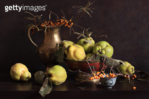 Sea Buckthorn Berries And Quinces - gettyimageskorea