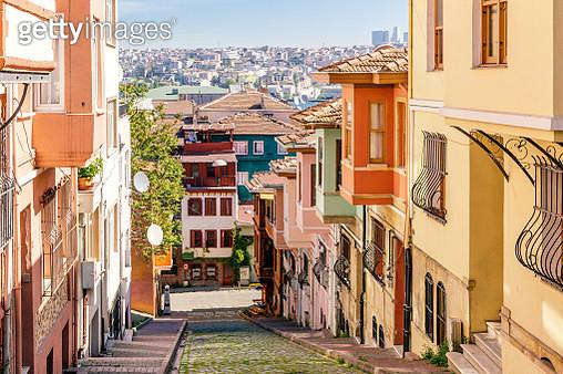 Street in Balat, Istanbul, Turkey - gettyimageskorea