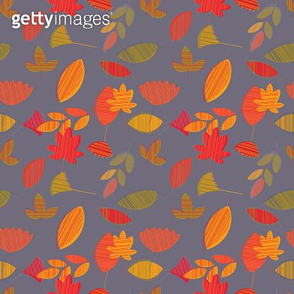 Autumn Leaves Seamless Pattern - gettyimageskorea