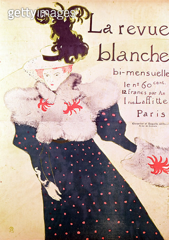<b>Title</b> : Poster advertising 'La Revue Blanche', 1895 (litho)<br><b>Medium</b> : lithograph<br><b>Location</b> : Musee Toulouse-Lautrec, Albi, France<br> - gettyimageskorea