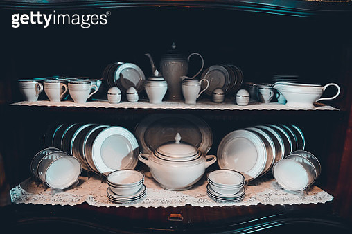 Kitchen Utensils In Shelf - gettyimageskorea