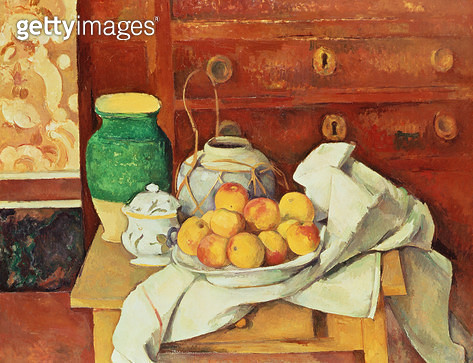 <b>Title</b> : Still Life with a Chest of Drawers, 1883-87 (oil on canvas)Additional InfoNature Morte a la Commode;<br><b>Medium</b> : <br><b>Location</b> : Staatsgalerie Moderner Kunst, Munich, Germany<br> - gettyimageskorea