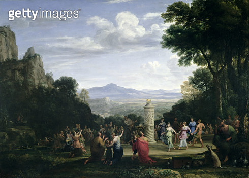 <b>Title</b> : The Adoration of the Golden Calf, 1660 (oil on canvas)<br><b>Medium</b> : oil on canvas<br><b>Location</b> : Manchester Art Gallery, UK<br> - gettyimageskorea